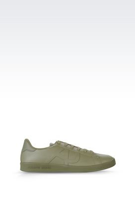 Armani Sneakers Men sneaker in leather with logo