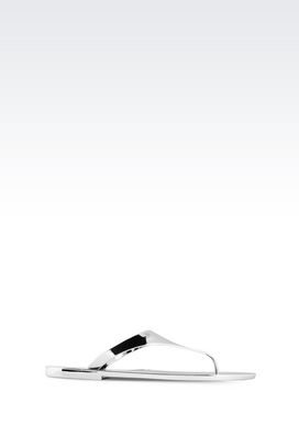 Armani Sandalen Für sie dianetten aus gummi in lamé-optik