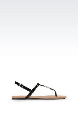 Armani Sandalen Für sie dianetten aus lackleder