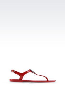 Armani Flat sandals Women rubber flip flop