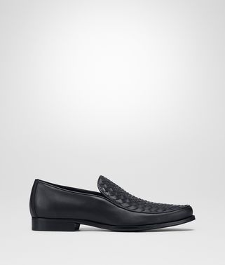 SLIP-ON IN DARK NAVY INTRECCIATO CALF
