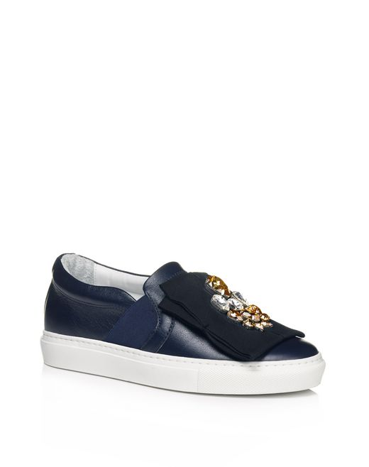 lanvin decorated pull-on sneaker women