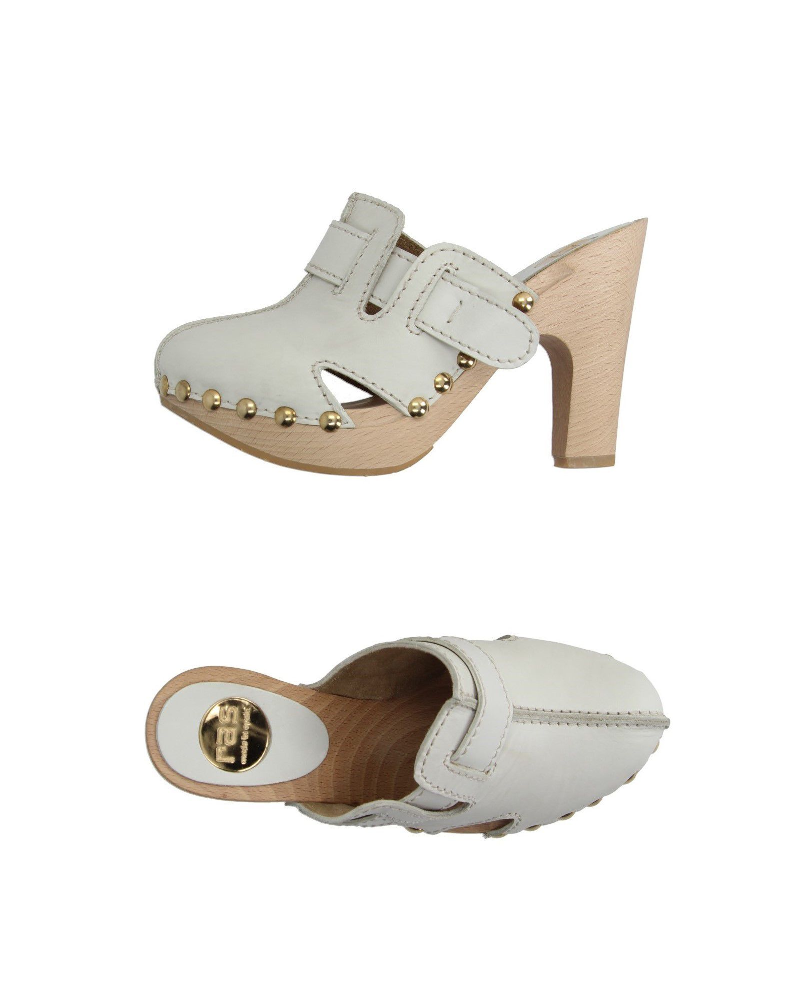 RAS Damen Mules & Clogs Farbe Weiß Größe 5