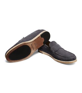 ERMENEGILDO ZEGNA: Mocassino Blu china - 44995557KR