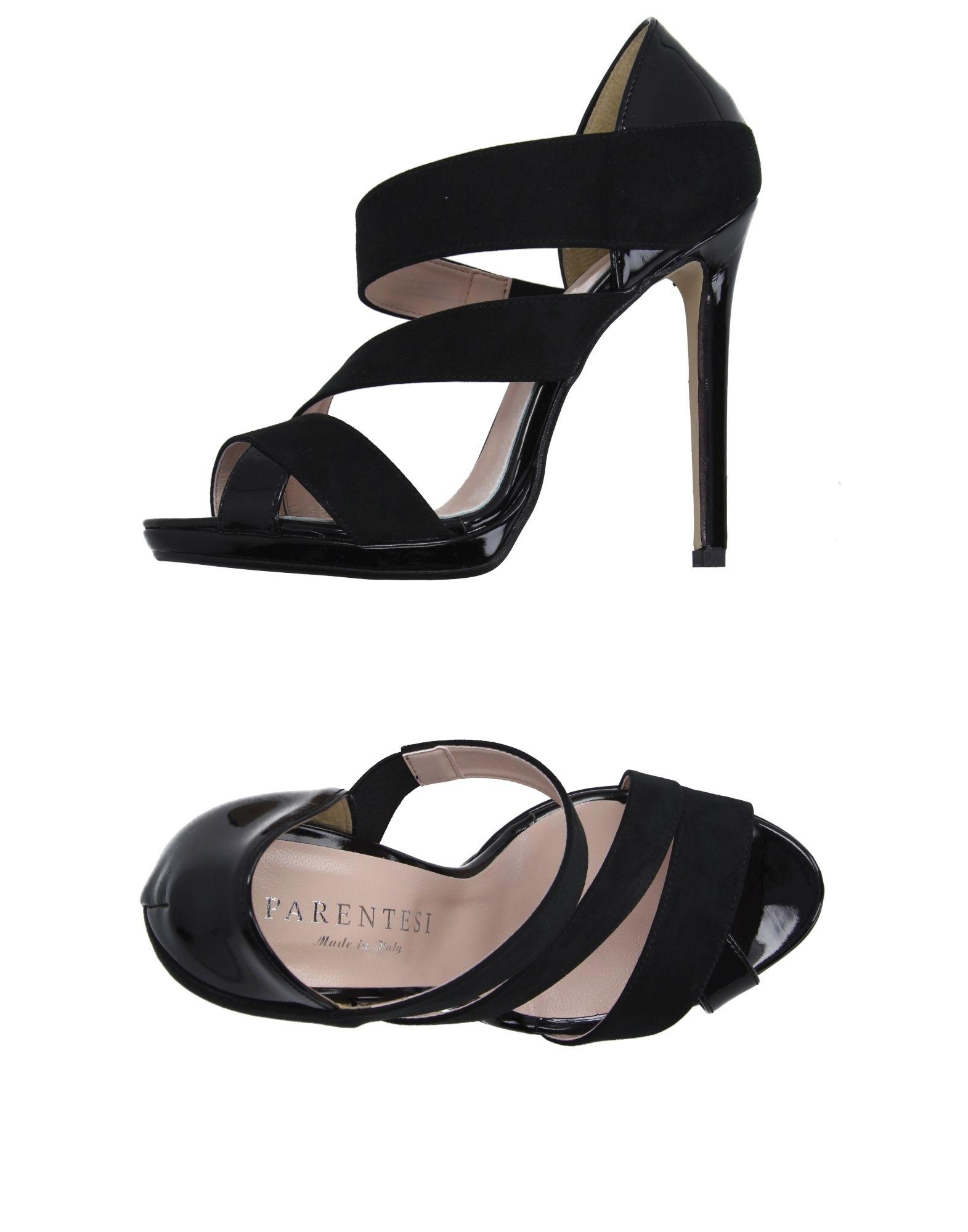 NADIA GRILLI Damen Sandale Farbe Schwarz Größe 11