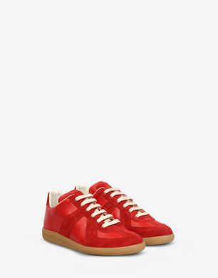 Maison Margiela Suede and calfskin 'Replica' sneakers