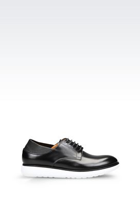 Armani Lace-up shoes Men derby in brushed calfskin and napa leather