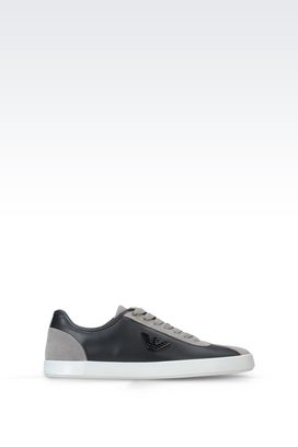 Armani Sneakers Men sneaker in suede and napa leather