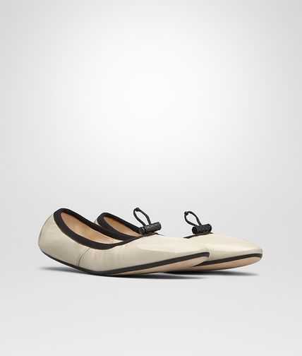 BALLERINA IN BIRCH PATENT CALF