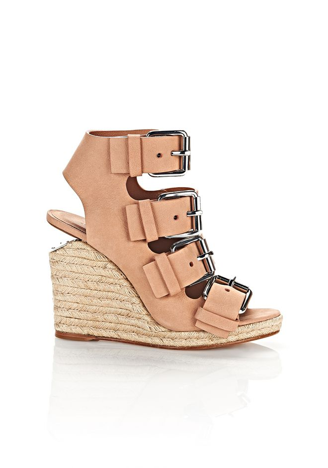 ALEXANDER WANG Heels Women JO ESPADRILLE WEDGE SANDAL WITH RHODIUM