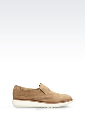 Armani Sneakers Men suede slip-on