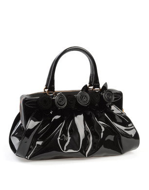 Medium leather bag Women - Handbags Women on Valentino Online Store :  handbag bag patent leather rosettes