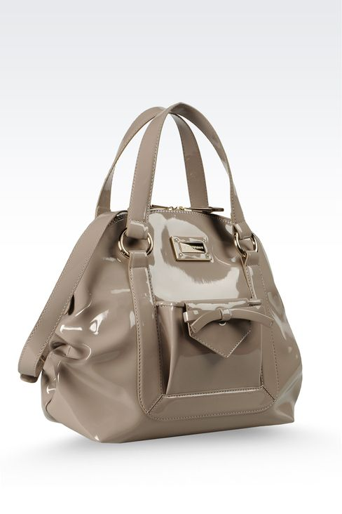 Handbag with zipper and detachable shoulder strap: Baby tote bags Women by Armani - 3