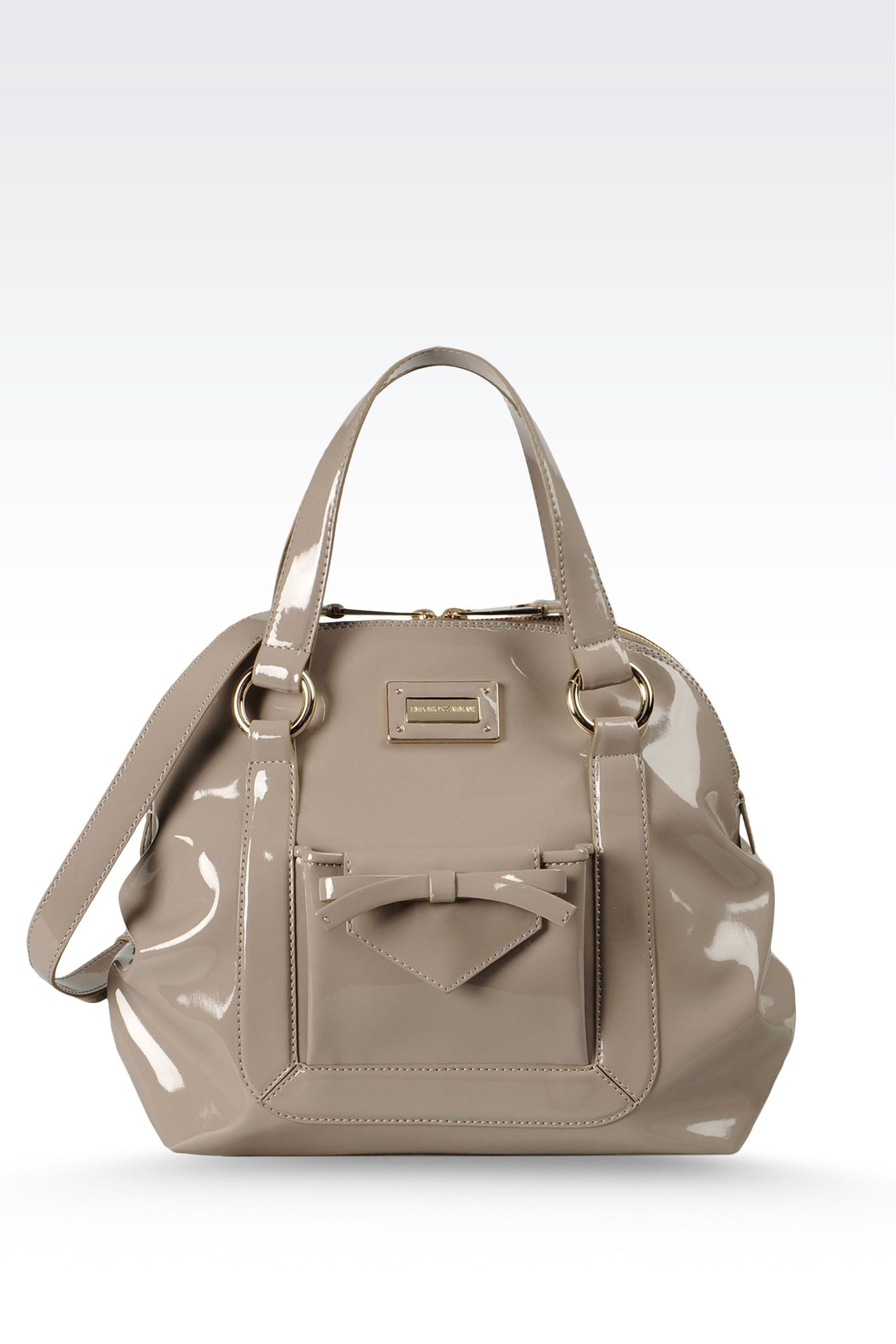 Handbag with zipper and detachable shoulder strap: Baby tote bags Women by Armani - 0