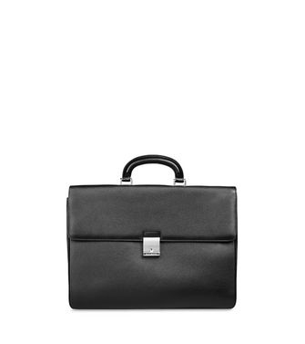ERMENEGILDO ZEGNA: Office and laptop bag Maroon - Steel grey - 45148571DL