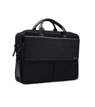ERMENEGILDO ZEGNA: Office and laptop bag Maroon - Steel grey - 45166677FB