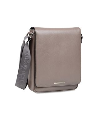 ERMENEGILDO ZEGNA: Shoulder bag Blue - Dove grey - 45168383JE