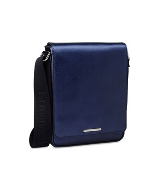 ERMENEGILDO ZEGNA: Shoulder bag Maroon - Blue - Steel grey - 45168383NK