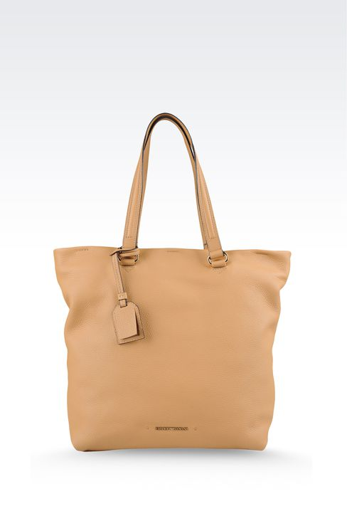 PRINTED LEATHER SHOPPING BAG: Shoppers Women by Armani - 1