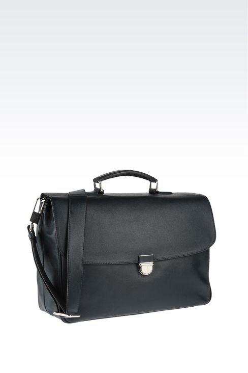 Bags: Briefcases Men by Armani - 3
