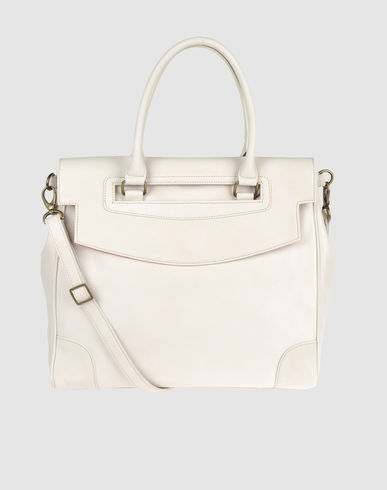 WHITE IN 8 - Large leather bag