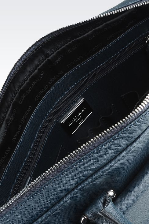 Bags: Briefcases Men by Armani - 4
