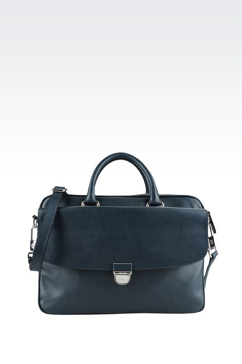 Bags: Briefcases Men by Armani - 1