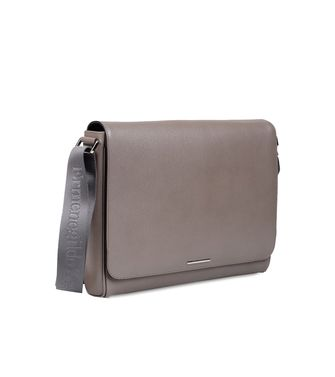 ERMENEGILDO ZEGNA: Shoulder bag Dove grey - 45173659HG