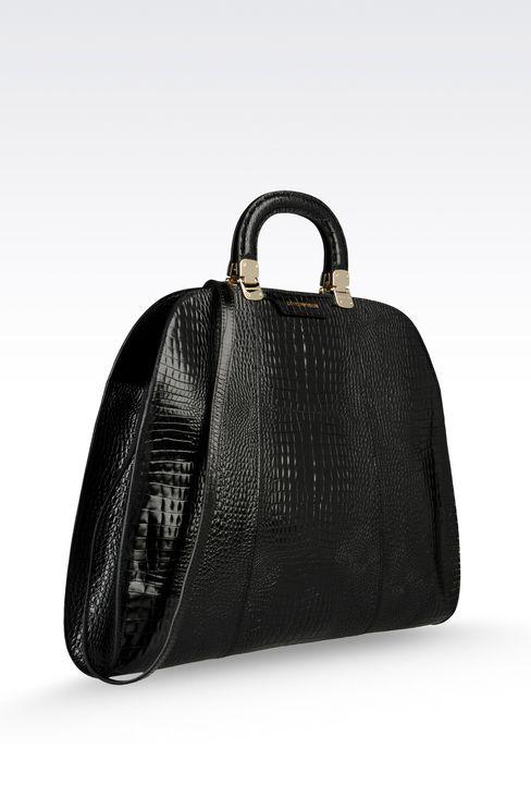 Handtasche aus Kalbsleder mit Krokoprint: Handtaschen Für Sie by Armani - 3
