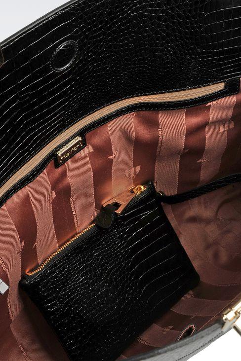Handtasche aus Kalbsleder mit Krokoprint: Handtaschen Für Sie by Armani - 4