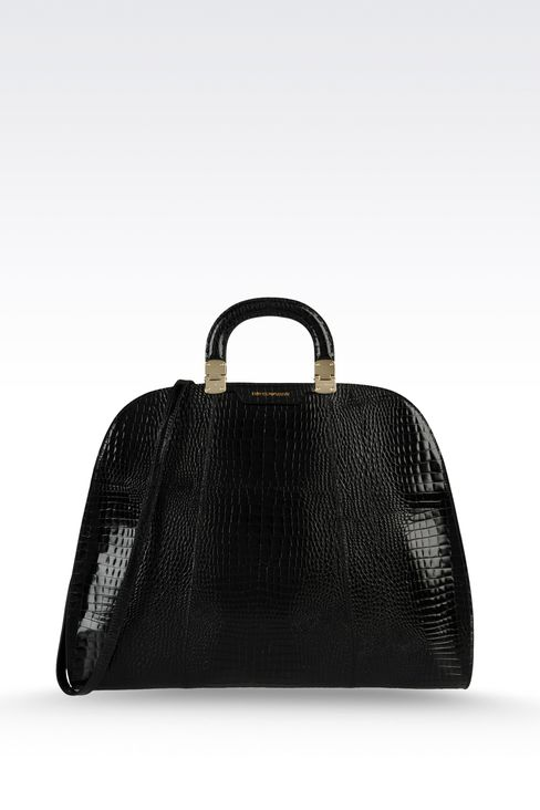 Handtasche aus Kalbsleder mit Krokoprint: Handtaschen Für Sie by Armani - 1
