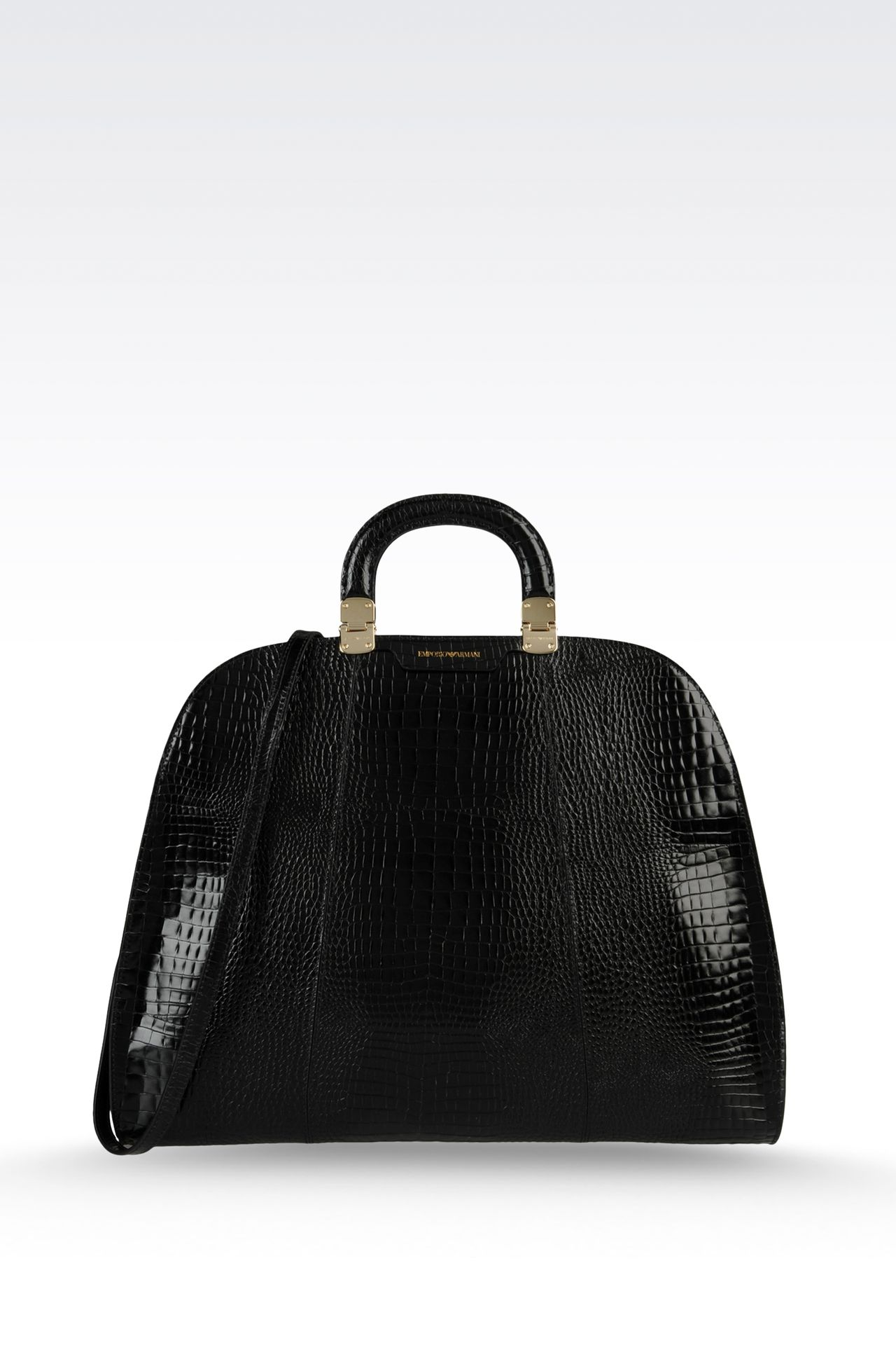 Handtasche aus Kalbsleder mit Krokoprint: Handtaschen Für Sie by Armani - 0