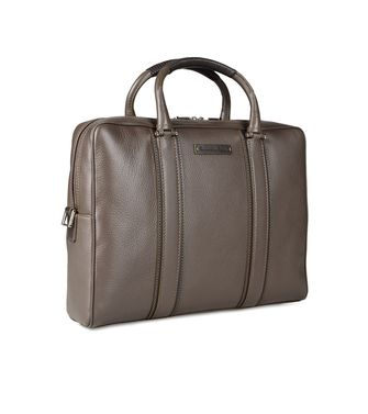 ERMENEGILDO ZEGNA: Office and laptop bag Khaki - Dark brown - 45178671KO