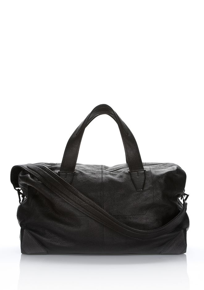ALEXANDER WANG WALLIE DUFFLE IN BLACK GOATSKIN WITH MATTE BLACK Travel Adult 12_n_d