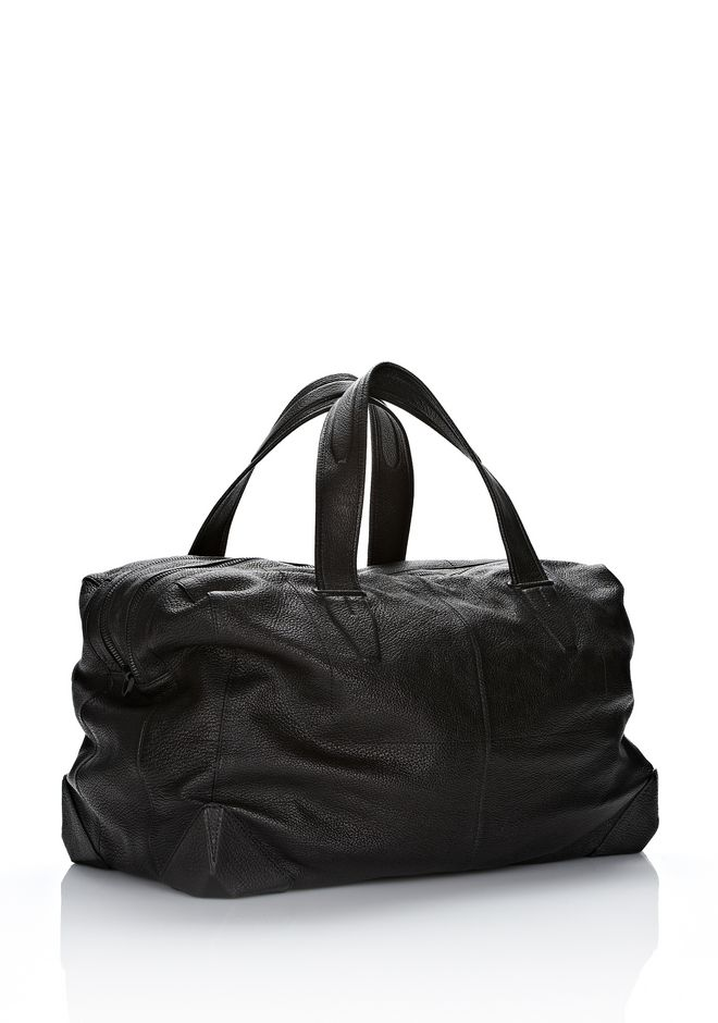 ALEXANDER WANG WALLIE DUFFLE IN BLACK GOATSKIN WITH MATTE BLACK Travel Adult 12_n_r
