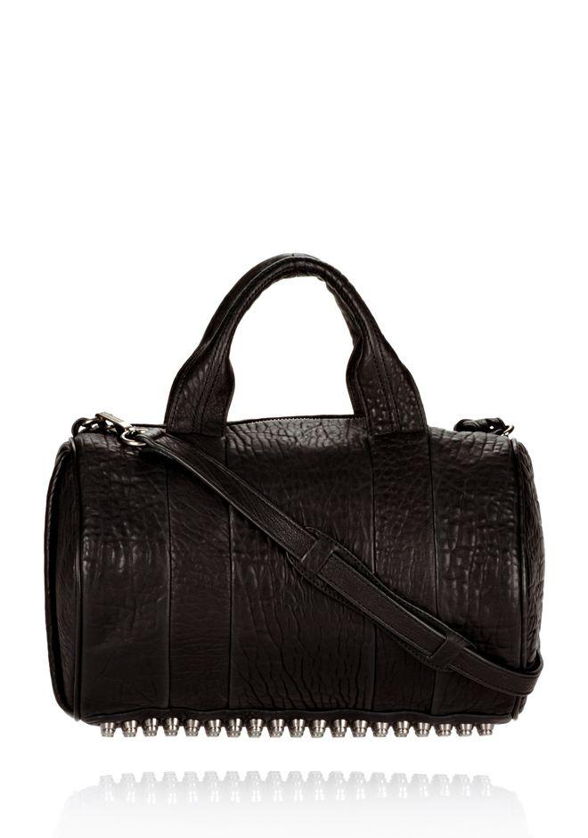 ALEXANDER WANG ROCCO IN BLACK DUMBO WITH BLACK NICKEL Shoulder bag Adult 12_n_f