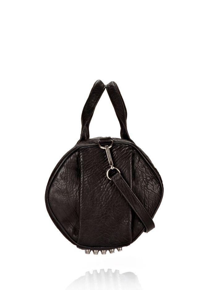 ALEXANDER WANG ROCCO IN BLACK DUMBO WITH BLACK NICKEL Shoulder bag Adult 12_n_r