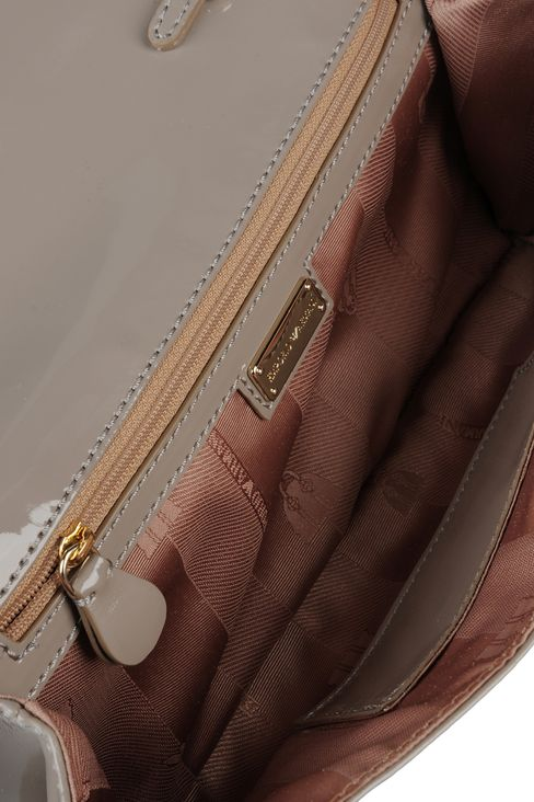 clutch with patent effect and detachable shoulder strap: Pochettes Women by Armani - 4