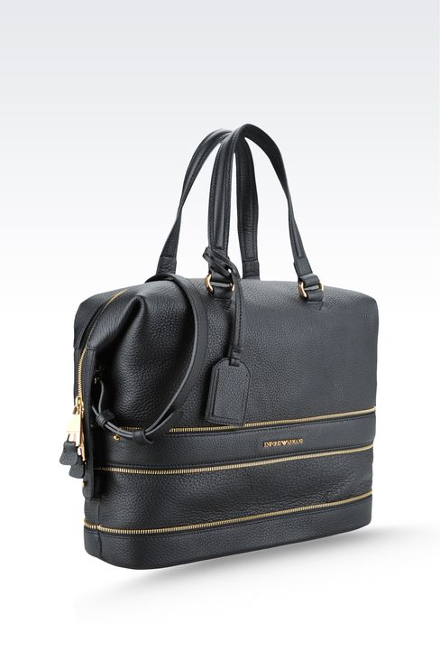 Bag with decorative zips: Top handles Women by Armani - 3