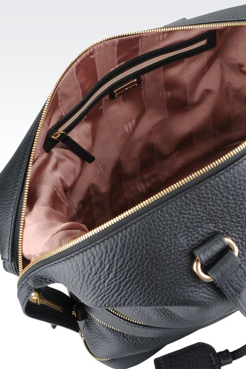 Bag with decorative zips: Top handles Women by Armani - 4