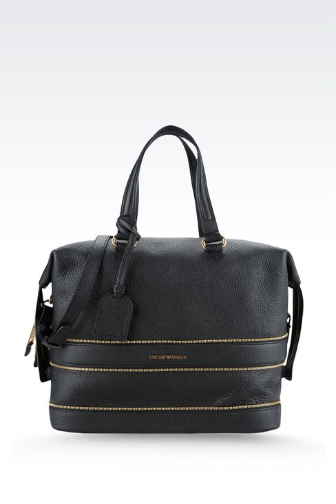 Bag with decorative zips: Top handles Women by Armani - 1