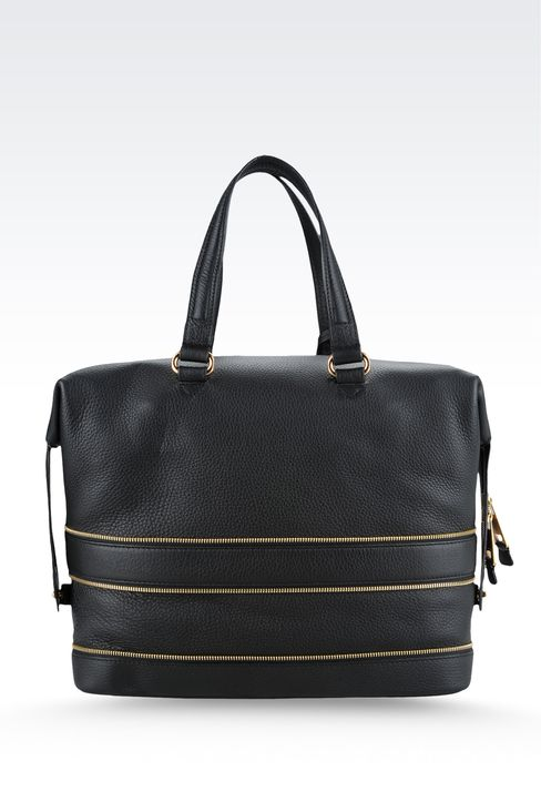 Bag with decorative zips: Top handles Women by Armani - 2