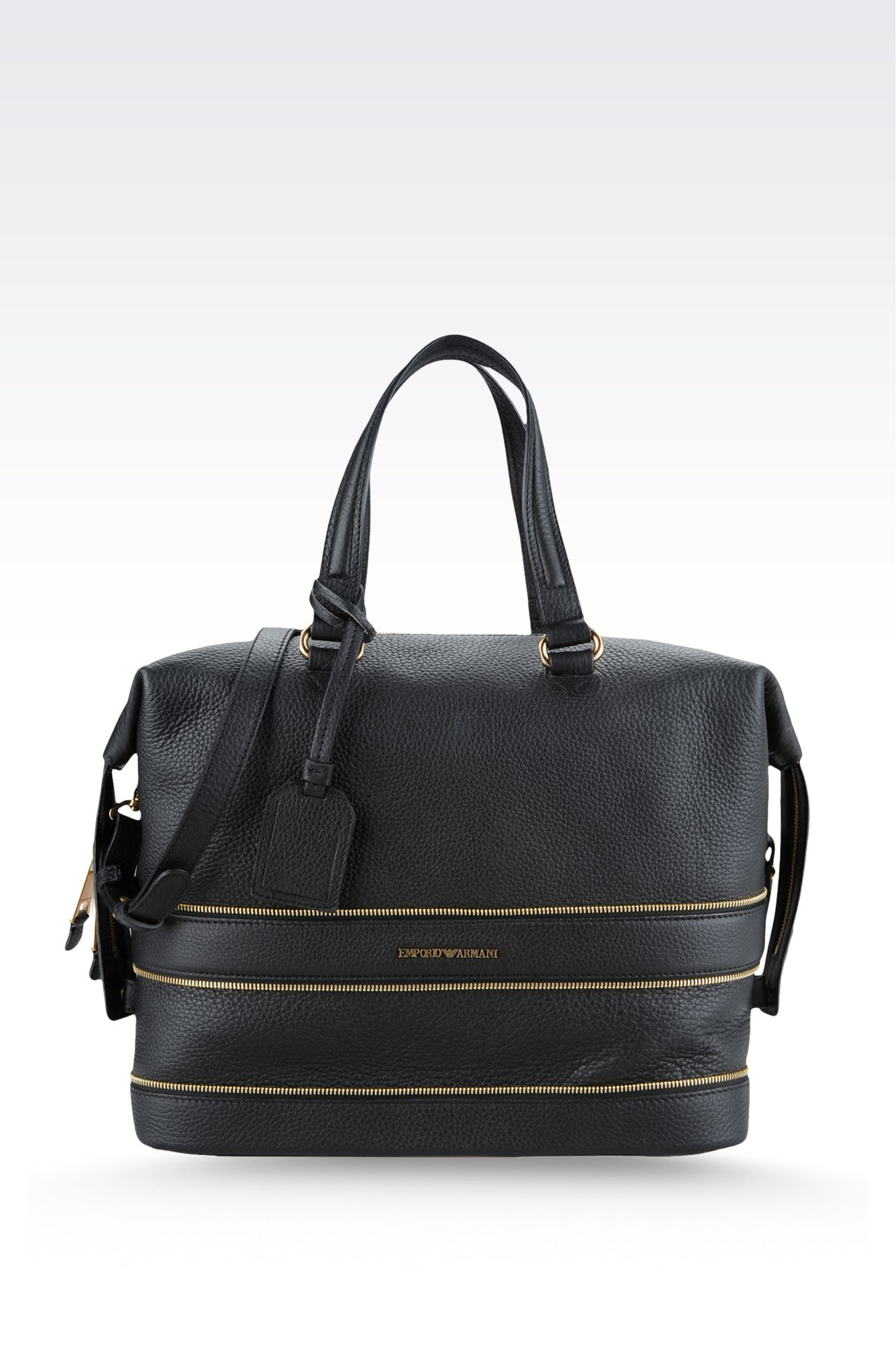 Bag with decorative zips: Top handles Women by Armani - 0