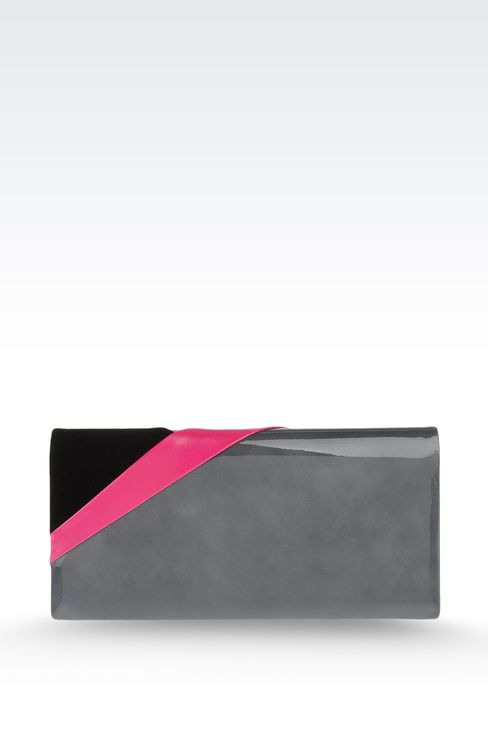 Jewel clutch with multicolored details: Clutch bags Women by Armani - 2