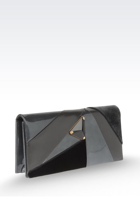 Jewel clutch with contrasting details: Clutch bags Women by Armani - 3