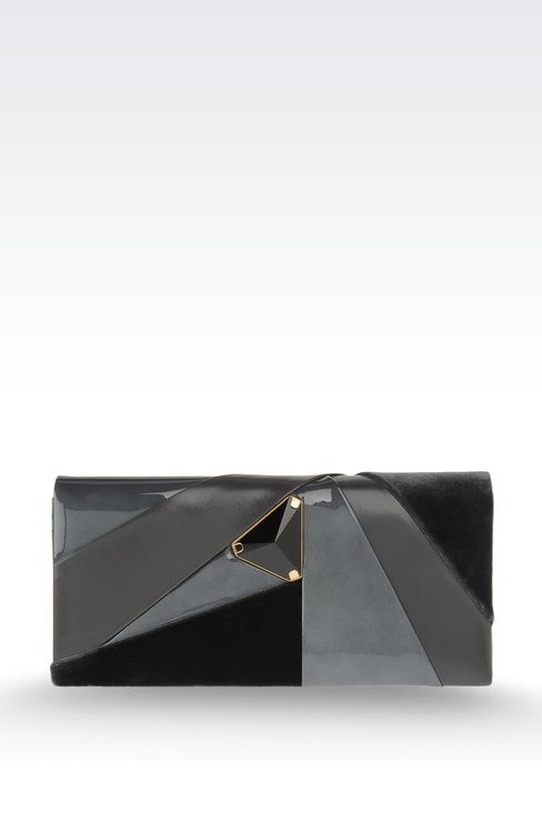 Jewel clutch with contrasting details: Clutch bags Women by Armani - 1