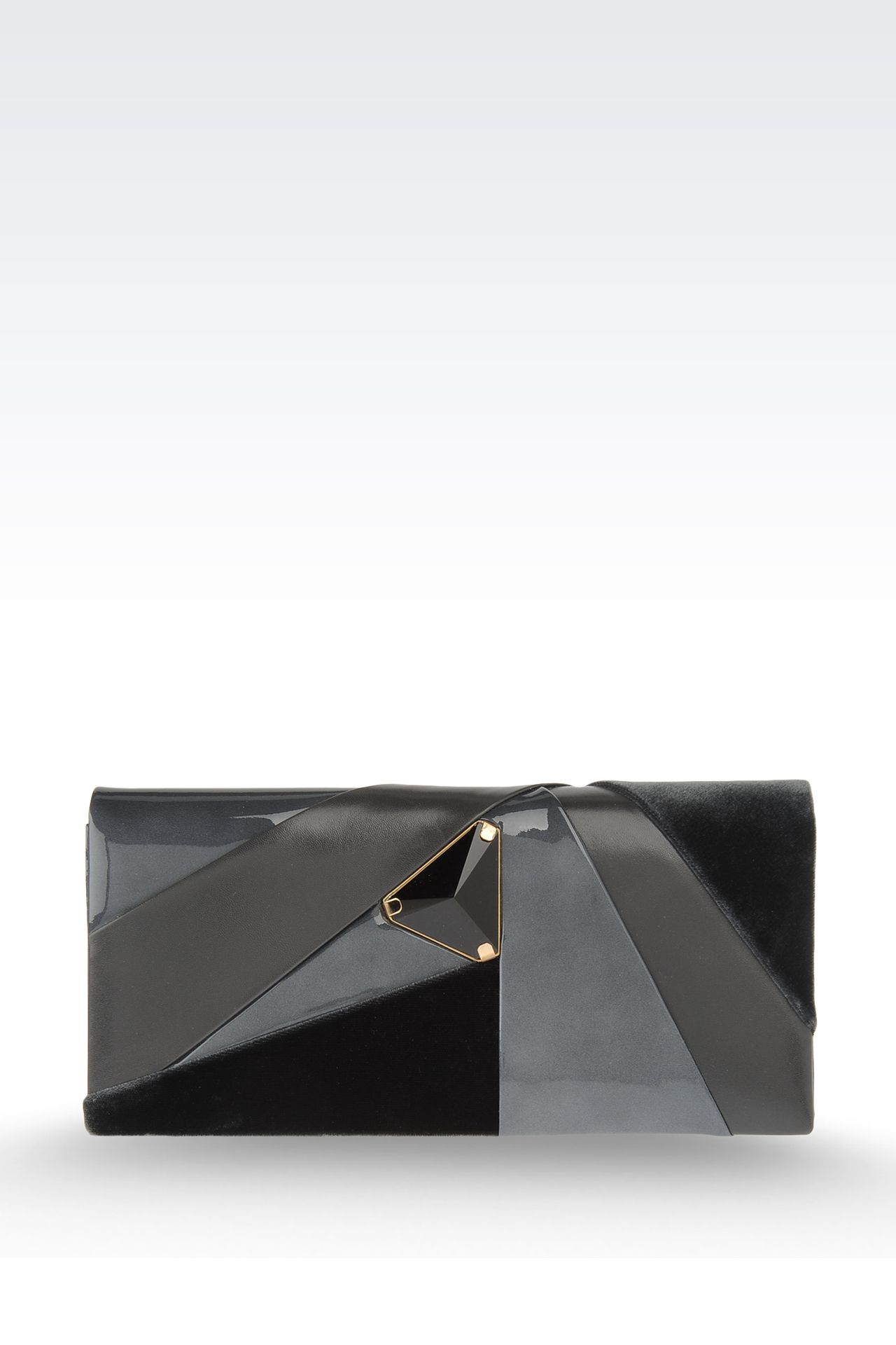 Jewel clutch with contrasting details: Clutch bags Women by Armani - 0