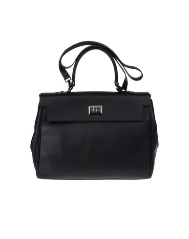 SECRET PON-PON - Medium leather bag