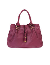 BORBONESE - Medium leather bag