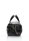 ALEXANDER WANG WALLIE DUFFLE IN BLACK EMBOSSED CROC  WITH RHODIUM Travel Adult 8_n_e